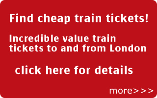 find cheap train tickets to london